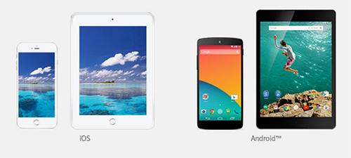 U-NEXTではiOS/Androidのスマートフォンに対応
