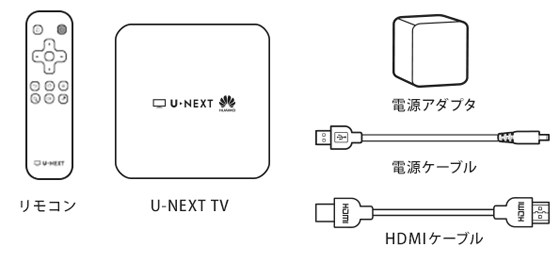 U-NEXT TVの同梱物