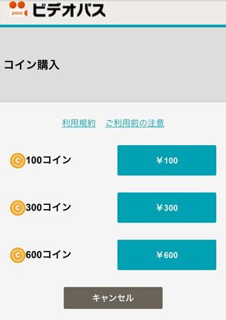 購入したいコインの金額を選択