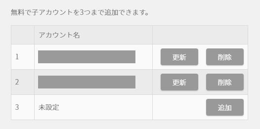 子アカウントは「ファミリーアカウントサービス」から追加できる