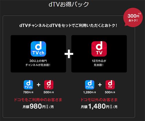 dtvとdtvチャンネルがセット利用でお得に