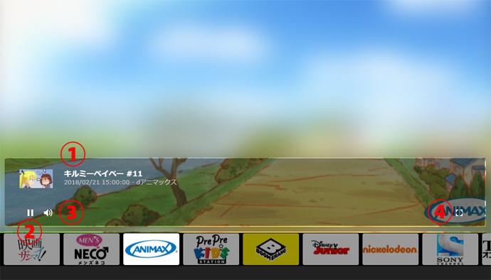 番組の再生画面