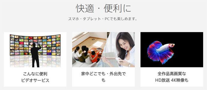 ひかりTVのビデオサービス