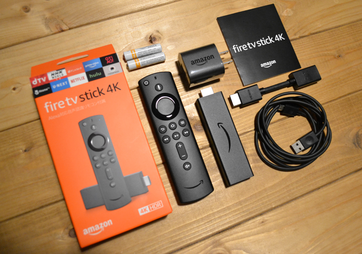 Fire TV Stick 4Kを開封