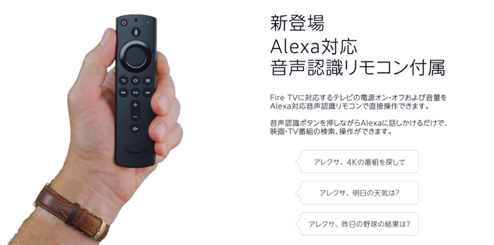Fire TV Stick 4KのAlexa対応リモコン