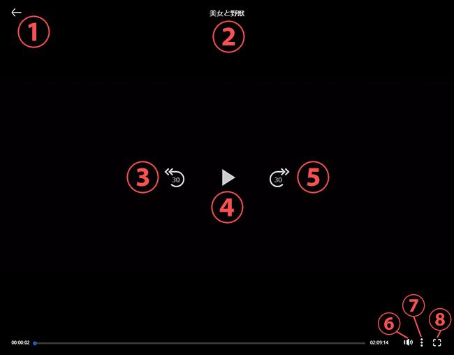 ディズニーシアターの動画再生画面